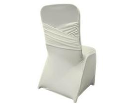 White Spandex Criss Cross Chair Cover Katsura Designs