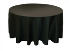Black Round Tablecloths
