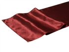 Burgundy Satin Runner