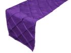 Purple Pintuck Runner