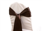 Chocolate Satin Sash