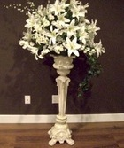 Ivory Pedestals for rental