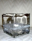 SQUARE CENTERPIECE VASE 5 X 5 inches