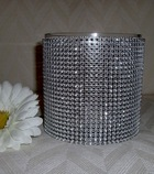 Cylinder 5x5 Inches w/crystal mesh