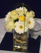 Daisy Basket - Gerberas Wedding centerpiece