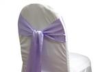 Lavender Satin Organza