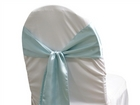 Light Blue Satin Sash