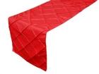 Red Pintuck Runner